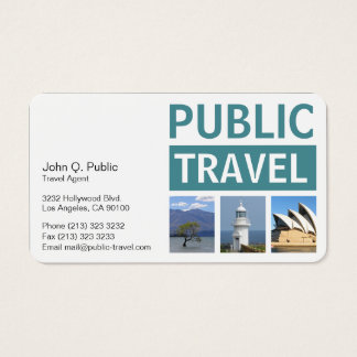 Photography Travel Agency Business Card