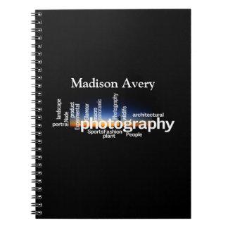 Photography Typography Sunrise Photographer Notebooks