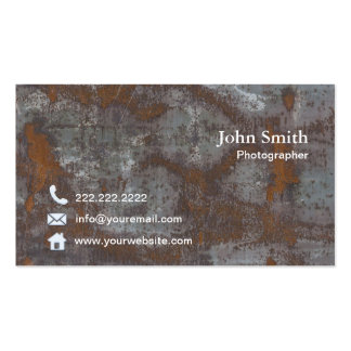 Photography Vintage Rusty Metal Photographer Pack Of Standard Business Cards