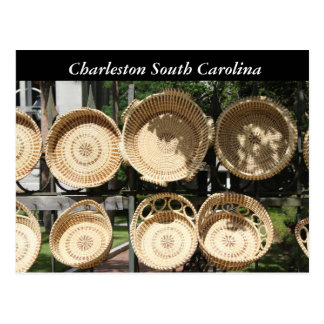 Photography Woven Baskets, Charleston SC Postcard