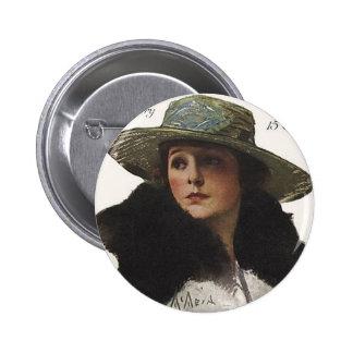 photoplay magazine cover pre 1923 6 cm round badge