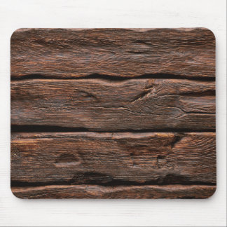 """Photorealistic Weathered """"Log Cabin"""" Wood Mouse Pad"""
