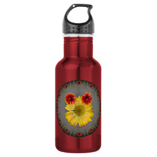 Photos daisies a graphic design of a smiling face 532 ml water bottle
