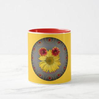 Photos daisies a graphic design of a smiling face mug