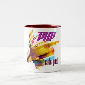 PHP- Code Hurricane Two-Tone Coffee Mug