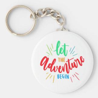 Phrase Let the adventure begin Key Ring