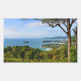 Phuket Thailand - Kata Beach Rectangular Sticker