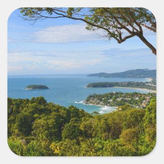 Phuket Thailand - Kata Beach Square Sticker