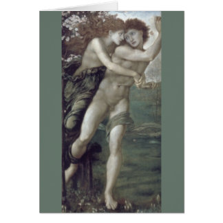 """Phyllis and Demophoon"", by Edward Burne-Jones Card"