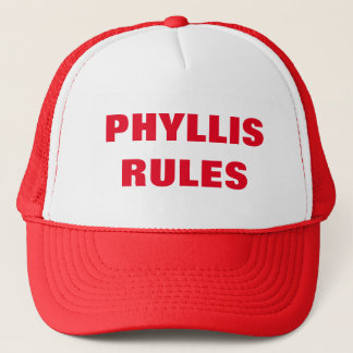 PHYLLIS RULES TRUCKER HAT