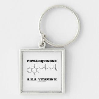 Phylloquinone A.K.A. Vitamin K (Chemical Molecule) Key Ring