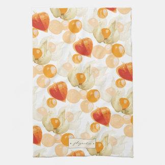 Physalis | Winter Cherries Tea Towel