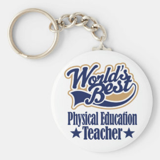 Physical Education Teacher Gift For (Worlds Best) Basic Round Button Key Ring