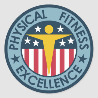 Physical Fitness Excellence Classic Round Sticker