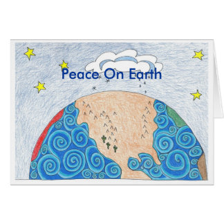 physical geography, Peace On Earth Greeting Card