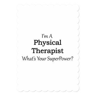 Physical Therapist 13 Cm X 18 Cm Invitation Card