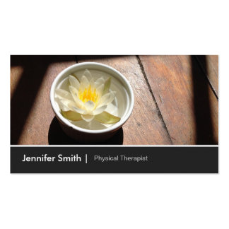 Physical Therapist Appointment Chic Water Lily Business Card Template