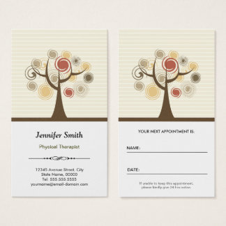 Physical Therapist Appointment - Elegant Natural Business Card