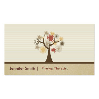 Physical Therapist Appointment - Elegant Natural Pack Of Standard Business Cards