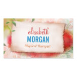 Physical Therapist - Artistry Watercolor Floral Business Card Template