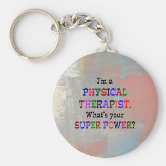 Physical Therapist Basic Round Button Key Ring