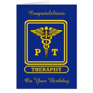 Physical Therapist Birthday Card