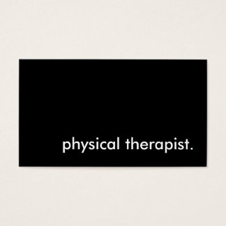 physical therapist. business card