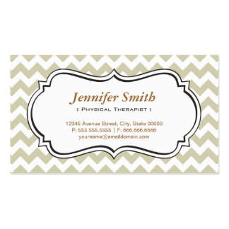 Physical Therapist - Chevron Simple Jasmine Pack Of Standard Business Cards