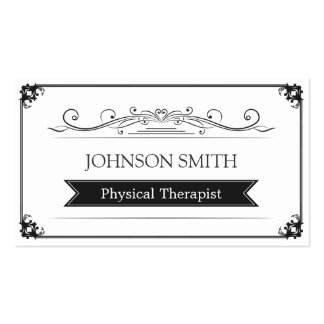 Physical Therapist - Classy Vintage Frame Pack Of Standard Business Cards