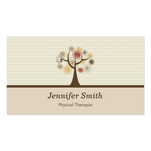 Physical Therapist - Elegant Natural Theme Business Card