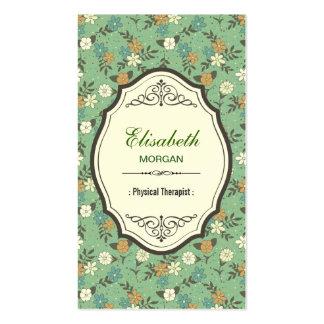 Physical Therapist - Elegant Vintage Floral Pack Of Standard Business Cards