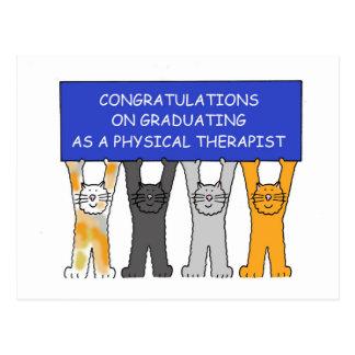 Physical Therapist Graduate Congratulations. Postcard