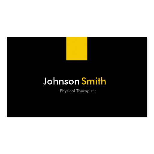 Physical Therapist - Modern Amber Yellow Business Card Templates