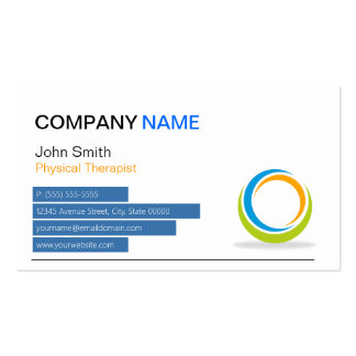 Physical Therapist - Modern Sphere Pack Of Standard Business Cards