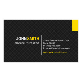 Physical Therapist - Modern Twill Grid Pack Of Standard Business Cards