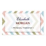 Physical Therapist - Natural Graceful Chevron Business Cards