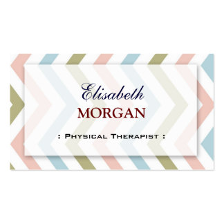 Physical Therapist - Natural Graceful Chevron Pack Of Standard Business Cards