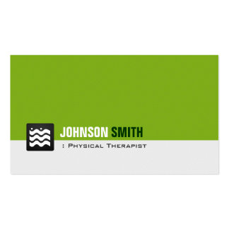Physical Therapist - Organic Green White Pack Of Standard Business Cards