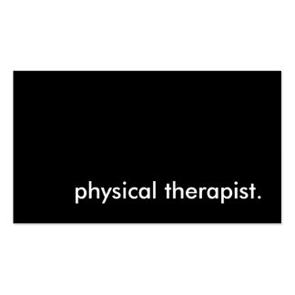 physical therapist. pack of standard business cards