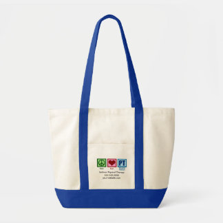 Physical Therapist Peace Love PT Custom Tote Bag