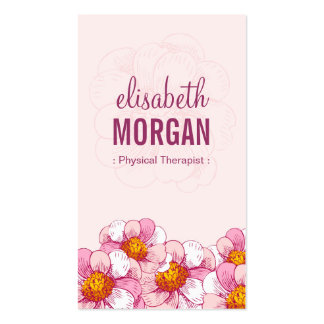 Physical Therapist - Pink Boutique Flowers Pack Of Standard Business Cards