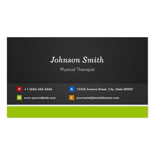 Physical Therapist - Professional and Premium Business Cards