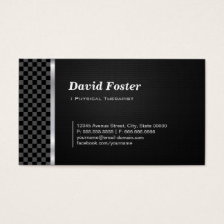 Physical Therapist Professional Black White Business Card