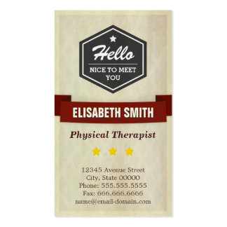 Physical Therapist - Retro Grunge Style Pack Of Standard Business Cards