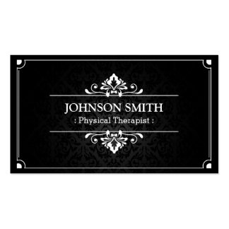 Physical Therapist - Shadow of Damask Business Card