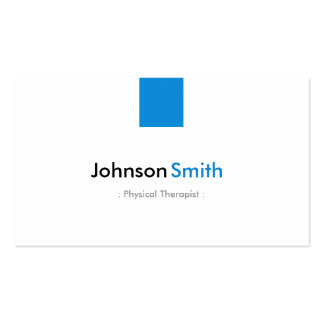 Physical Therapist - Simple Aqua Blue Business Card