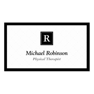 Physical Therapist - Simple Elegant Monogram Pack Of Standard Business Cards