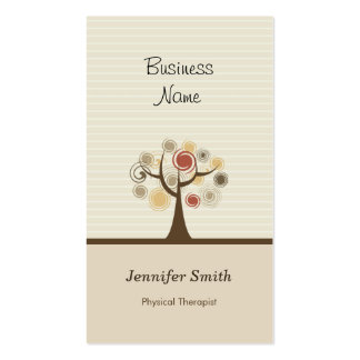 Physical Therapist - Stylish Natural Theme Pack Of Standard Business Cards