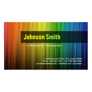 Physical Therapist - Stylish Rainbow Colors Pack Of Standard Business Cards