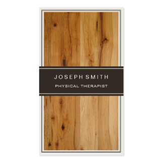Physical Therapist - Stylish Wood Texture Pack Of Standard Business Cards